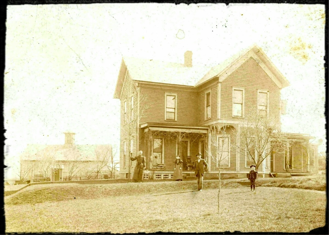 Original Farmstead, circa 1885.